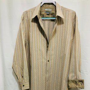 Johnston & Murphy Shirt w/Flip Cuff, Size L, PEM20